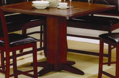 Counter Height Dining Table Dark Brown Finish