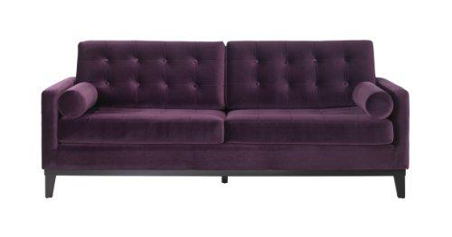 Armen Living 725 Centennial Sofa, Purple Velvet