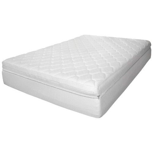 Rio Home Fashions 12-Inch Luxury Reversible Pillow Top Memory Foam Mattress, Full