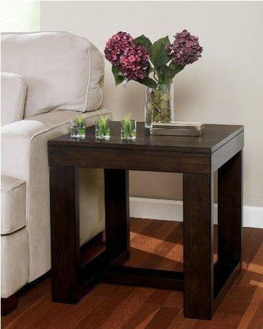 Ashley Furniture Watson Square End Table, Dark Brown