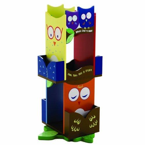 Wildkin Owls Revolving Bookcase