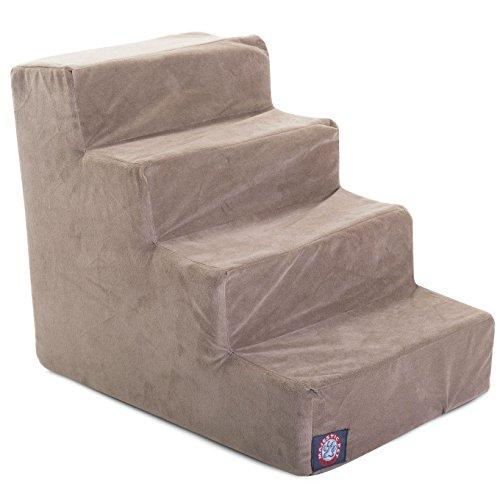 4 Step Stone Tan Suede Pet Stairs By Majestic Pet Products In Neutral Tone