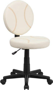 Flash Furniture BT-6179-BASE-GG Baseball Task Chair, Brown/Cream