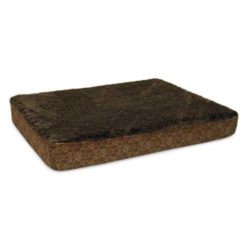 Deluxe Orthopedic Dog Bed 30 L X 40 W X 6 Brown Damask