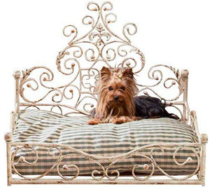 French Iron White Scroll Dog Pet Cat Bed Victorian Antique Fleur De Lis European By Intelligent Design