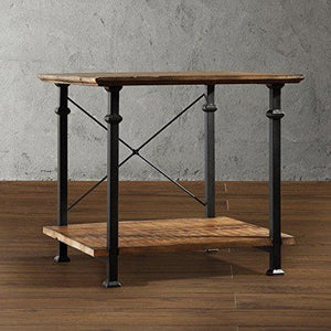 Homelegance Factory Square Wood End Table