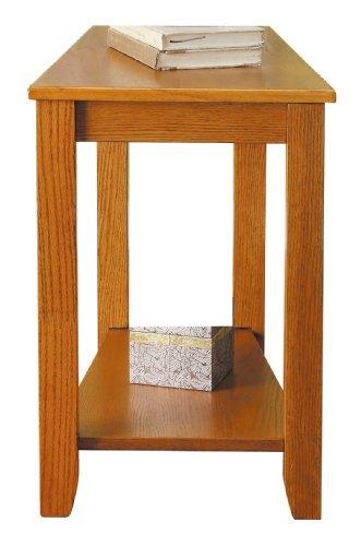 Homelegance 4728Ak Chair Side Table, Oak Finish