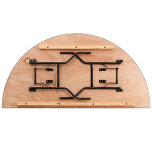 FlashFurniture YT-WHRFT72-HF-GG 72-Inch Half-Round Wood Folding Banquet Table