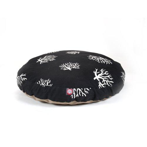Black Coral Large Round Indoor Outdoor Pet Dog Bed With Removable Washable Cover By Majestic Pet Products