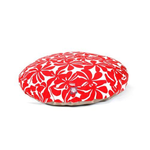Red Plantation Large Round Indoor Outdoor Pet Dog Bed With Removable Washable Cover By Majestic Pet Products