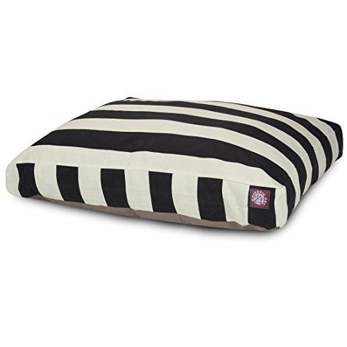 Black Vertical Stripe Extra Large Rectangle Indoor Outdoor Pet Dog Bed With Removable Washable Cover By Majestic Pet Products