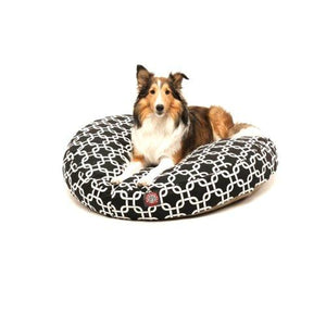 Black Links Medium Round Indoor Outdoor Pet Dog Bed With Removable Washable Cover By Majestic Pet Products