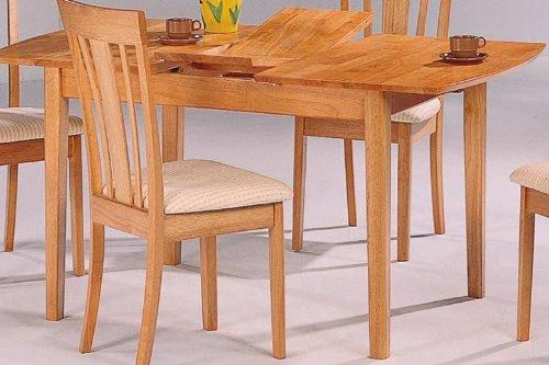 Coaster Furniture 4267 Davie Rectangle Leg Table In Oak With Butterfly Leaf
