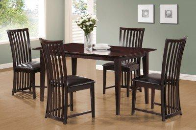 Monarch Specialties Dining Table, 36-Inch By 60-Inch, Cappuccino