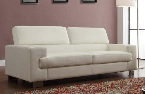 Homelegance Vernon Sofa In White Leather