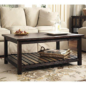 Ashley Furniture Signature Design Mestler Rectangular Cocktail Table, Rustic Brown