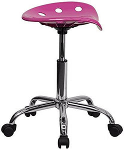 Adjustable Tractor Seat Chrome and Candy Heart Stool