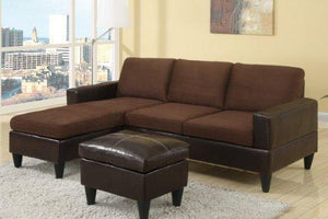 All In One Sectional In Chocolate By Poundex