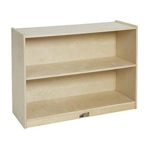 Ecr4Kids Birch 2 Shelf Storage Cabinet With Back, Natural