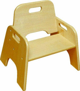 ECR4Kids Stackable Wooden Toddler Chairs (2 Pack), 8, Natural