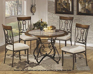 Signature Design By Ashley D314-15B Hopstand Collection Dining Room Table Base Only, Brown