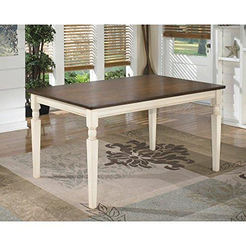 Whitesburg Collection Cottage Style Two Tone Finish Rectangular Dining Table