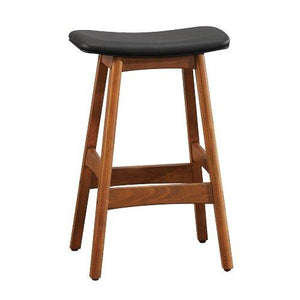 Homelegance 1188Bk-24 Bi-Cast Vinyl Counter Height Stool (Set Of 2), Black