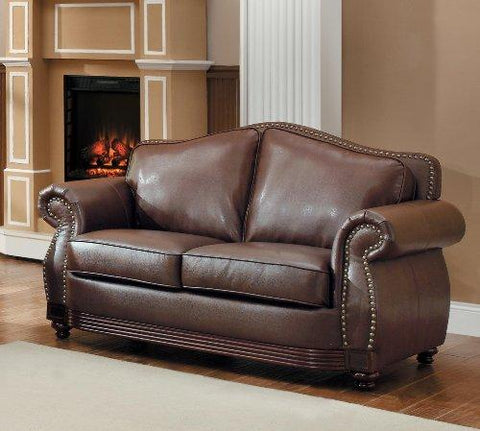 Homelegance 9616Brw-2 Loveseat, Dark Brown Bonded Leather