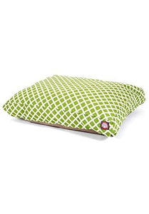 Sage Bamboo Medium Rectangle Indoor Outdoor Pet Dog Bed With Removable Washable Cover By Majestic Pet Products