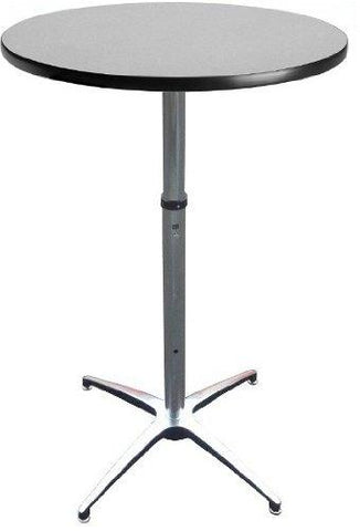 24 Diameter Adjustable Height Cocktail Table By Banquet Tables Pro
