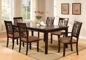 Furniture Of America Madison Dining Table With 18-Inch Leaf, Dark Cherry Finish
