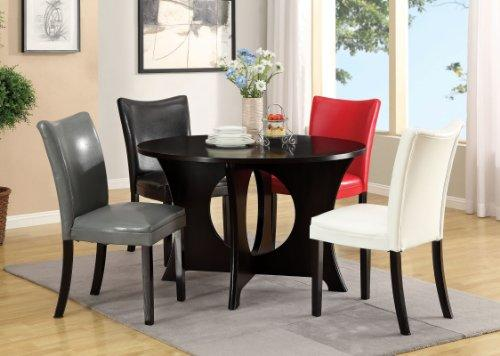 Furniture of America Oreulle Round Dining Table, Black Finish