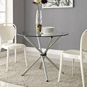 Lexmod Baton Dining Table In Clear