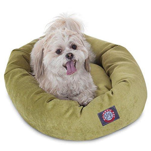 24 Inch Orange Villa Collection Micro Velvet Bagel Dog Bed By Majestic Pet Products