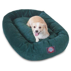 32 Inch Marine Villa Collection Micro Velvet Bagel Dog Bed By Majestic Pet Products