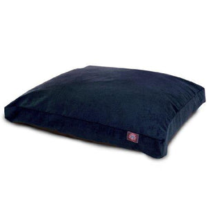 Navy Villa Collection Large Rectangle Pet Dog Bed
