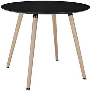 Lexmod Track Circular Dining Table In Black