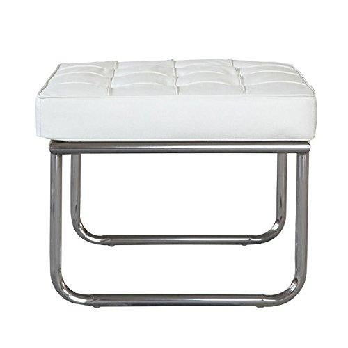 Fine Mod Color Celona Ottoman White Stainless Steel Polished Highest Quality