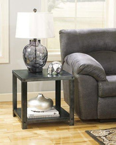 Ashley Furniture T560-2 Contemporary Industrial Style Metal End Table