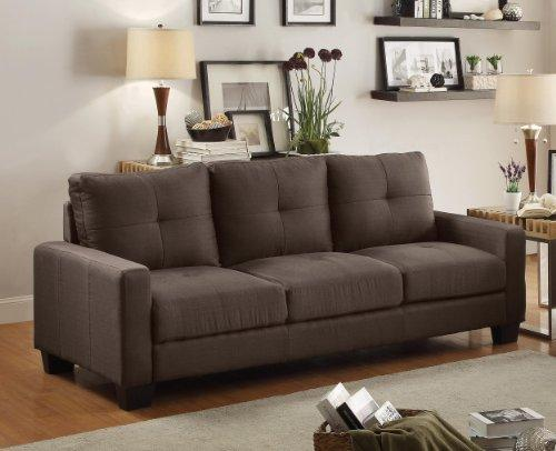 Homelegance 8518-3 Upholstered Sofa, Brownish Grey Linen-Like Fabric