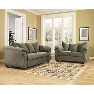 Signature Design by Ashley Darcy Rocker Recliner in Sage Fabric