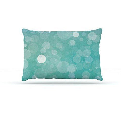 Kess Inhouse Kess Original Let It Go Aqua Bokeh Dog Bed