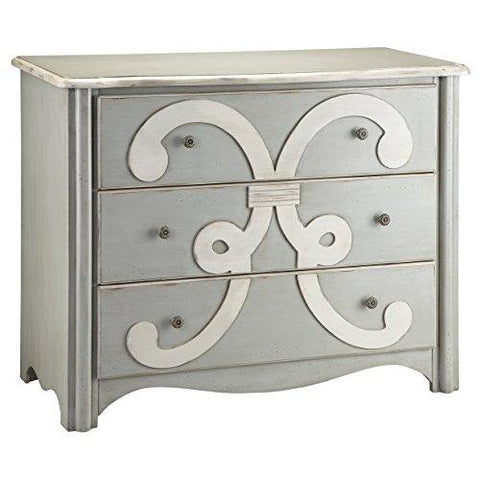Stein World Furniture Chesapeake Chest, Cadet Grey, Cream
