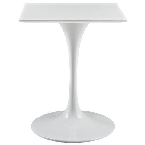 Modway Lippa 24 Square Wood Top Side Table In White