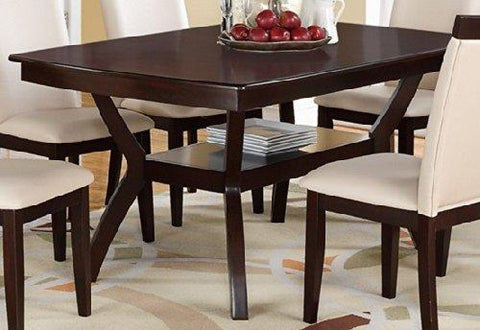 Modern Rectangular Wood Dining Table Espresso By Poundex