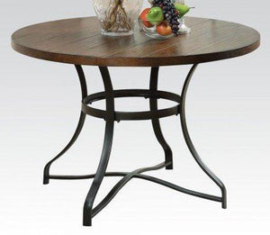 Wood Top Dining Table With Metal Legs By Acme Furniture
