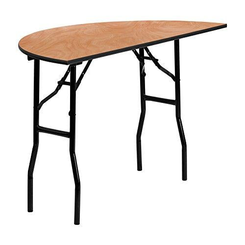 Flash Furniture 48 Half-Round Wood Folding Banquet Table [Yt-Whrft48-Hf-Gg]
