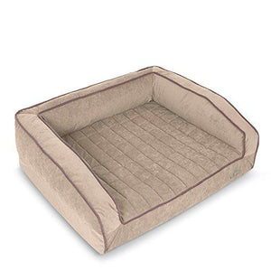 BuddyRest, Crown Supreme, Medium Memory Foam dog bed, Cutting Edge True Cool Memory Foam, Scientifically Calibrated To Promote Joint Health, Handmade in the USA, Champagne Beige