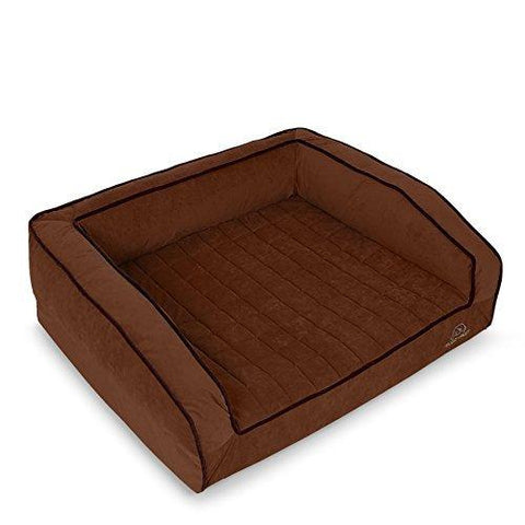 BuddyRest, Crown Supreme, Medium Memory Foam dog bed, Cutting Edge True Cool Memory Foam, Scientifically Calibrated To Promote Joint Health, Handmade in the USA, Dark Chocolate