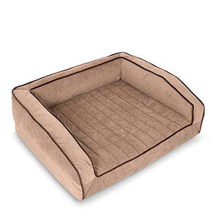 Buddyrest Crown Supreme, Large Memory Foam Dog Bed, Cutting Edge True Cool Memory Foam, Scientifically Calibrated To Promote Joint Health, Handmade In The Usa, Iced Mocha